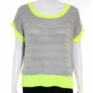Ya los angeles cotton shortsleeve sweater top m